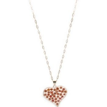 Silver plated necklace with resin heart pendant | TradeAid