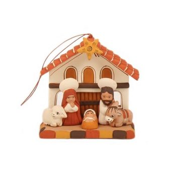 Andean house with 3 windows hanging nativity | TradeAid