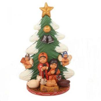 Ceramic christmas tree hanging nativity | TradeAid