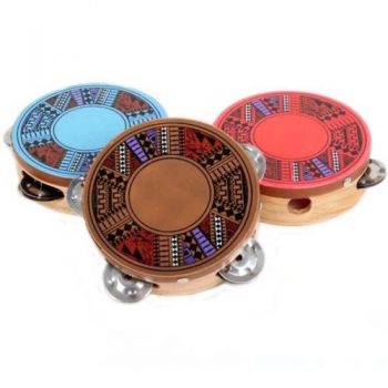 Tambourine with geometric design | TradeAid