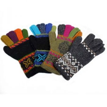 Colourful alpaca mix gloves | TradeAid
