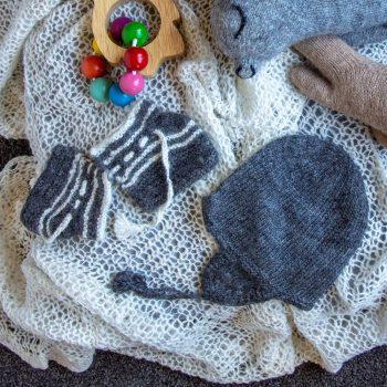 Baby's grey alpaca chullo   TradeAid