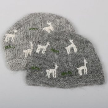 Alpaca mix baby's beanie with llama pattern | TradeAid