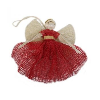 Angel hanging decoration with a red dress | TradeAid