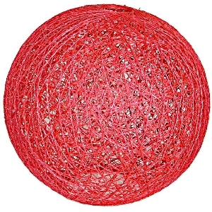 Red abaca ball lampshade | TradeAid