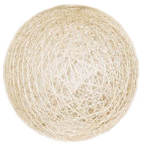 Large cream ball lampshade | TradeAid