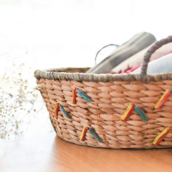 Raffia embroidered basket | TradeAid