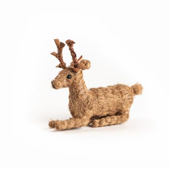 Small coco fibre resting reindeer | TradeAid