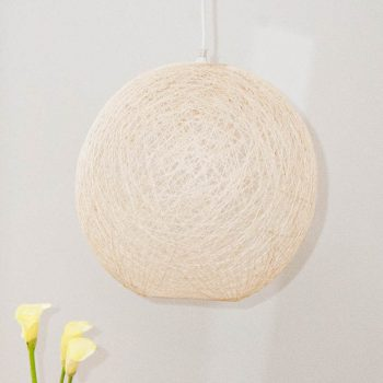 Small cream ball lampshade | TradeAid