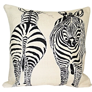 Cushion cover with zebra design | TradeAid
