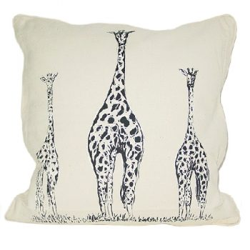 Cushion cover with 3 giraffes design | TradeAid