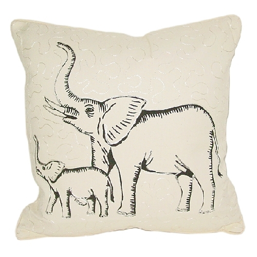 Elephant and baby cushion cover | TradeAid