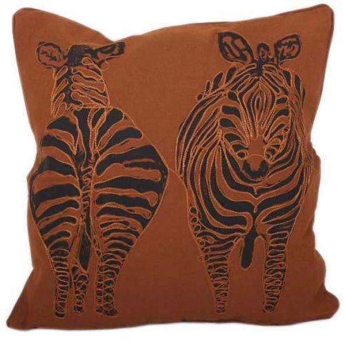 Terracotta zebra cushion cover | TradeAid