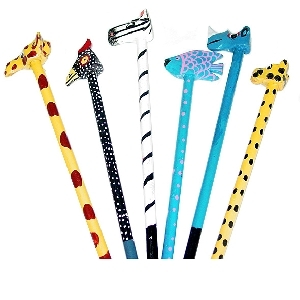 Assorted animal design pencils | TradeAid