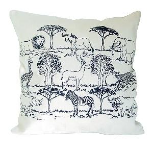 Cushion cover landscape & animals design | TradeAid
