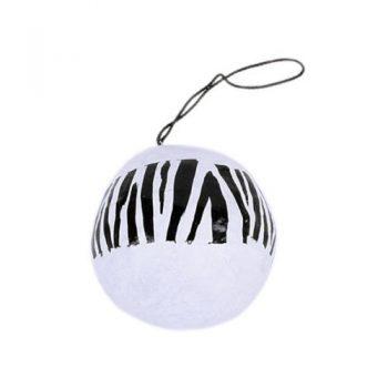 Black and white zebra stripe hanging ball | TradeAid