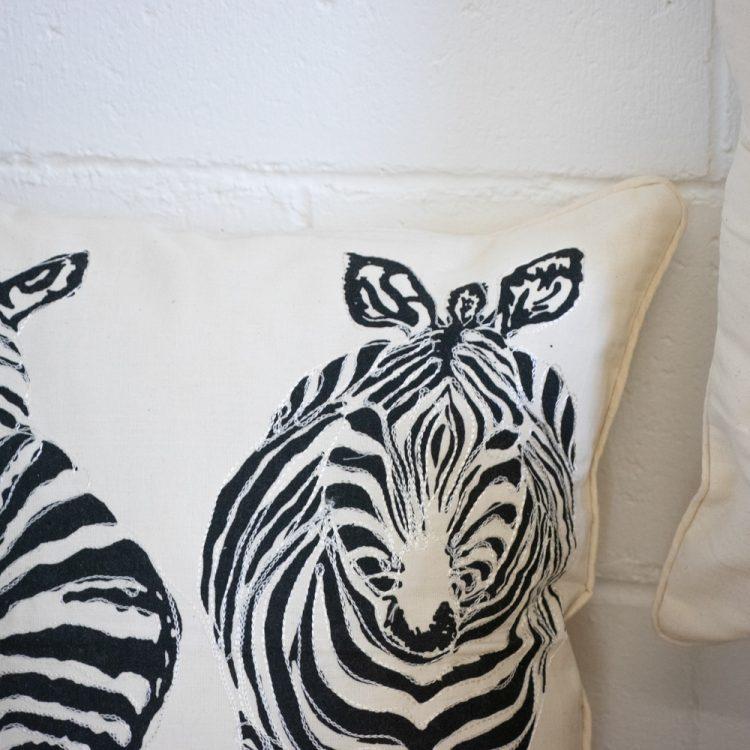 Zebra cushion cover | Gallery 1 | TradeAid