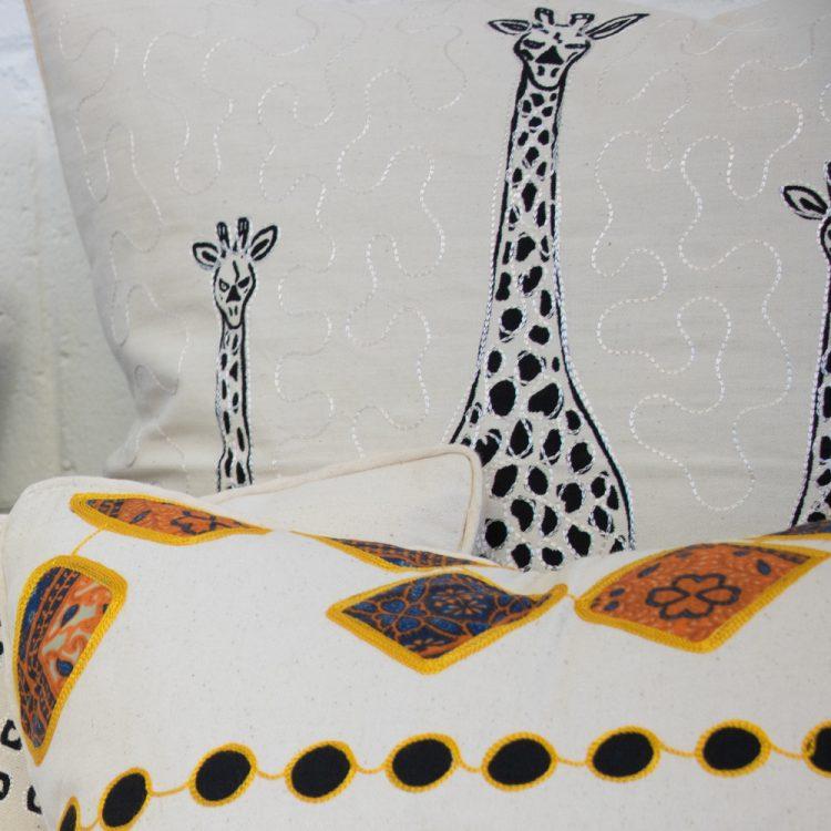 Giraffe cushion cover | TradeAid