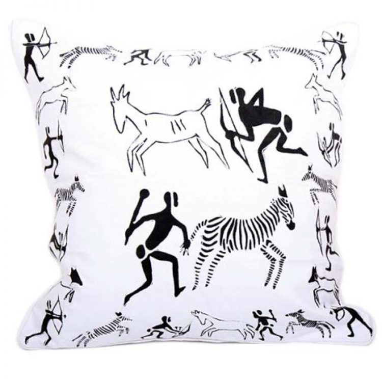 Hunting scene cushion cover | TradeAid