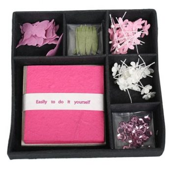 Pink flower card making set | TradeAid