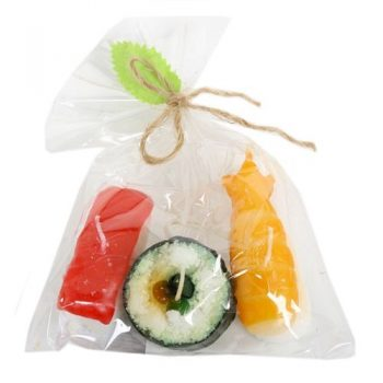 Set of 3 sushi floating candles | TradeAid