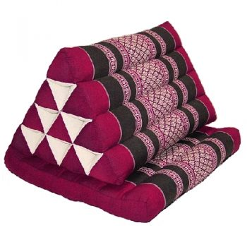Maroon triangle thai pillow seat | TradeAid