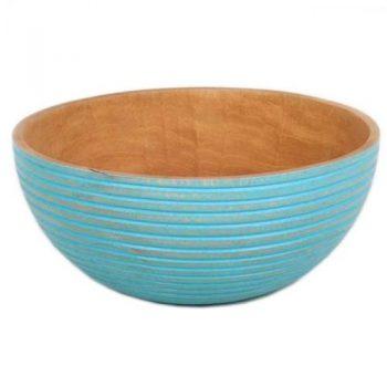 Blue mango wood bowl | TradeAid