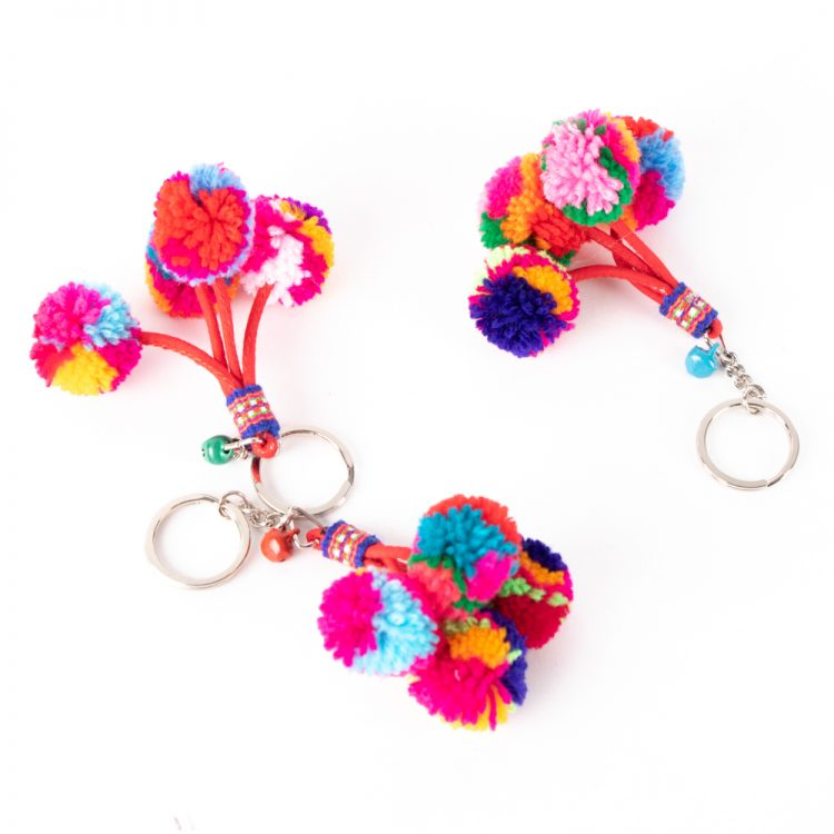 Pompom key ring | TradeAid