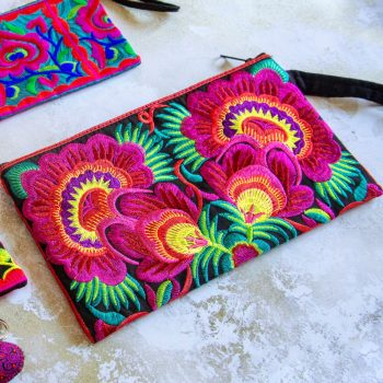 Embroidered clutch bag | TradeAid