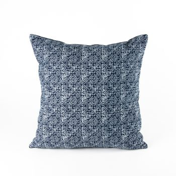 Navy batik cushion cover | TradeAid