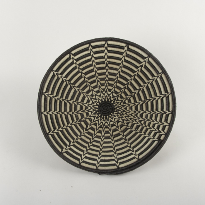 Black and white woven bowl | TradeAid