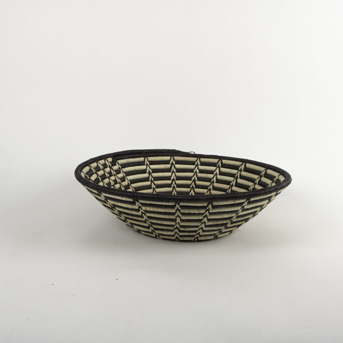 Black and white woven bowl | Gallery 1 | TradeAid