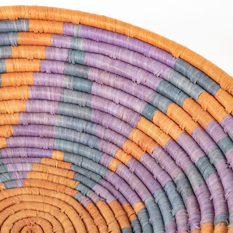 Lilac and rust star woven bowl | Gallery 2 | TradeAid