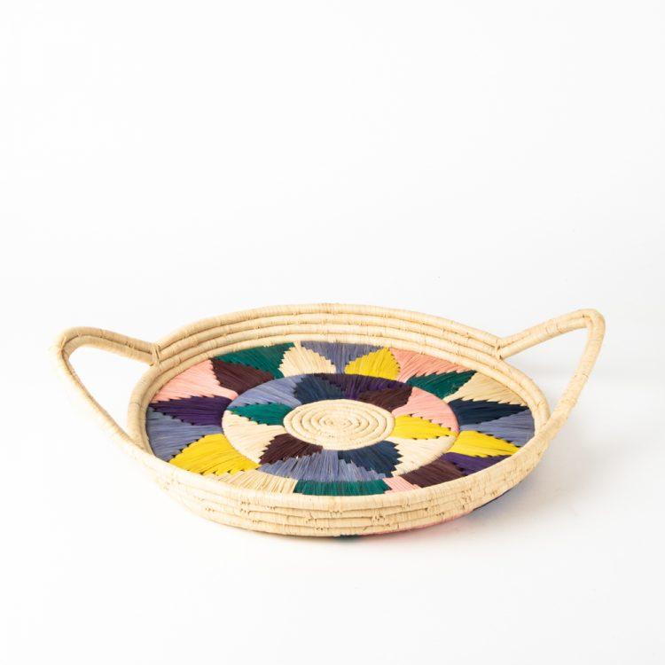 Multicolour round tray   TradeAid