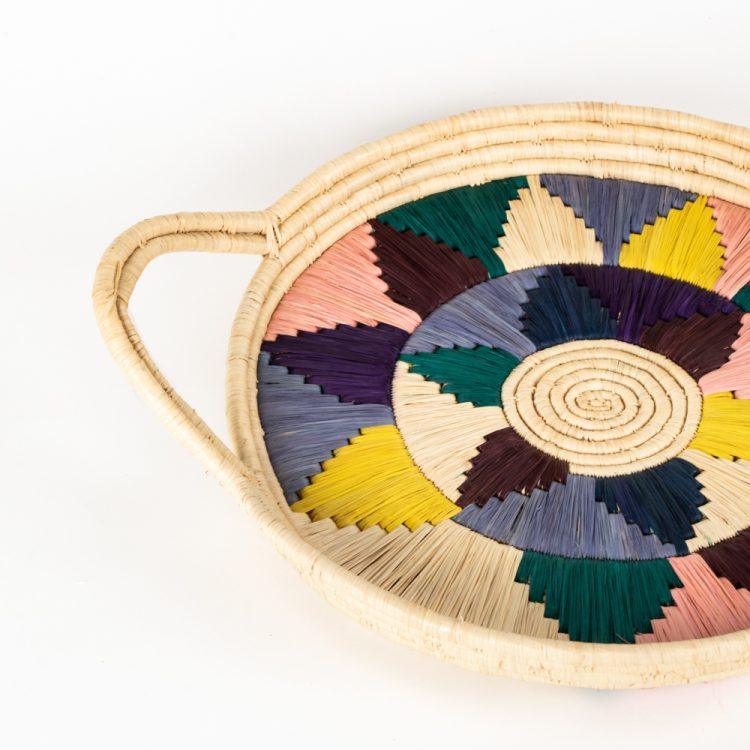 Multicolour round tray   Gallery 1   TradeAid