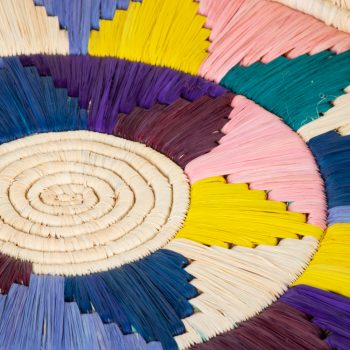 Multicolour round tray   Gallery 2   TradeAid