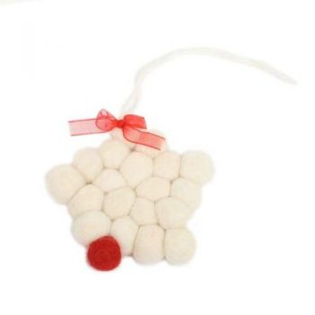 Felt ball star ornament | TradeAid