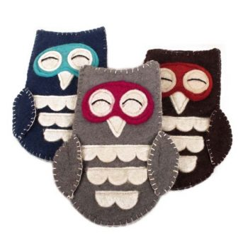 Felt owl glasses case | TradeAid