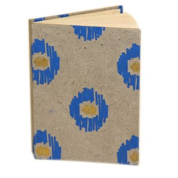 Silver and blue ikat notebook | TradeAid