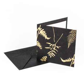 Black and gold fern card | TradeAid