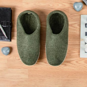 Khaki felt slipper (36) | TradeAid