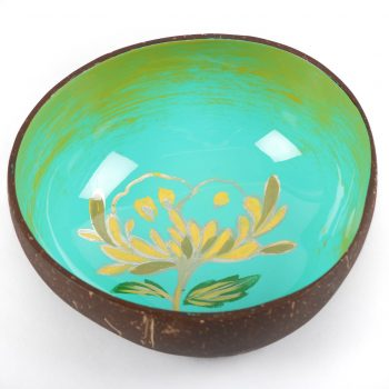 Floral coconut shell bowl | TradeAid
