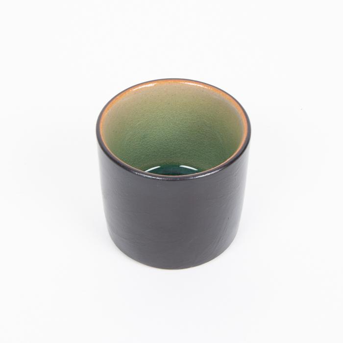 Teal and black teacup | TradeAid