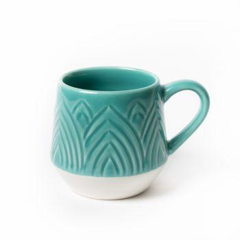 Teal lotus mug | TradeAid