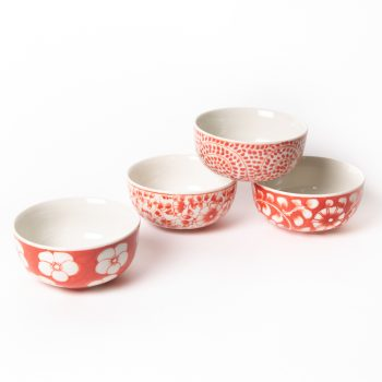 Red floral bowl | TradeAid