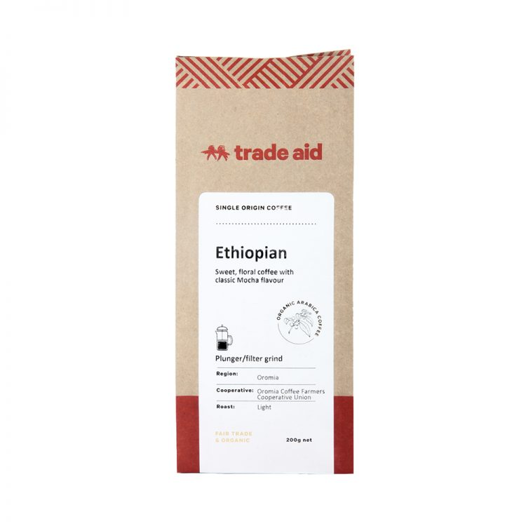 Ethiopian single origin – medium grind   TradeAid