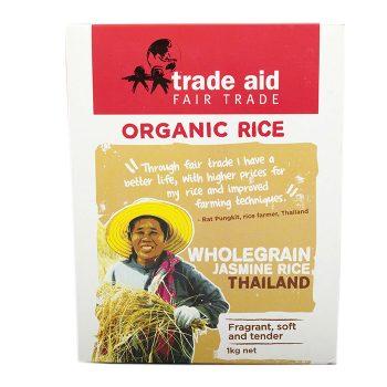 Wholegrain jasmine rice – 1kg   TradeAid