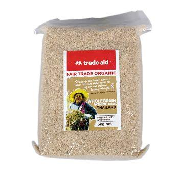 Wholegrain jasmine rice – 5kg   TradeAid