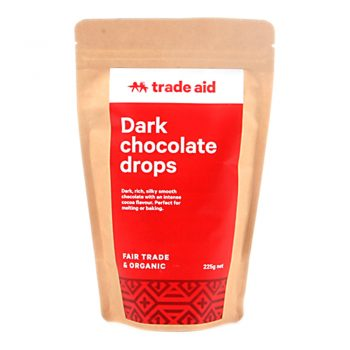 Organic 55% dark chocolate drops – 225g | TradeAid