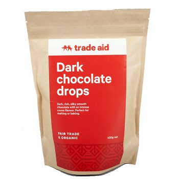 Organic 55% dark chocolate drops – 450g | TradeAid